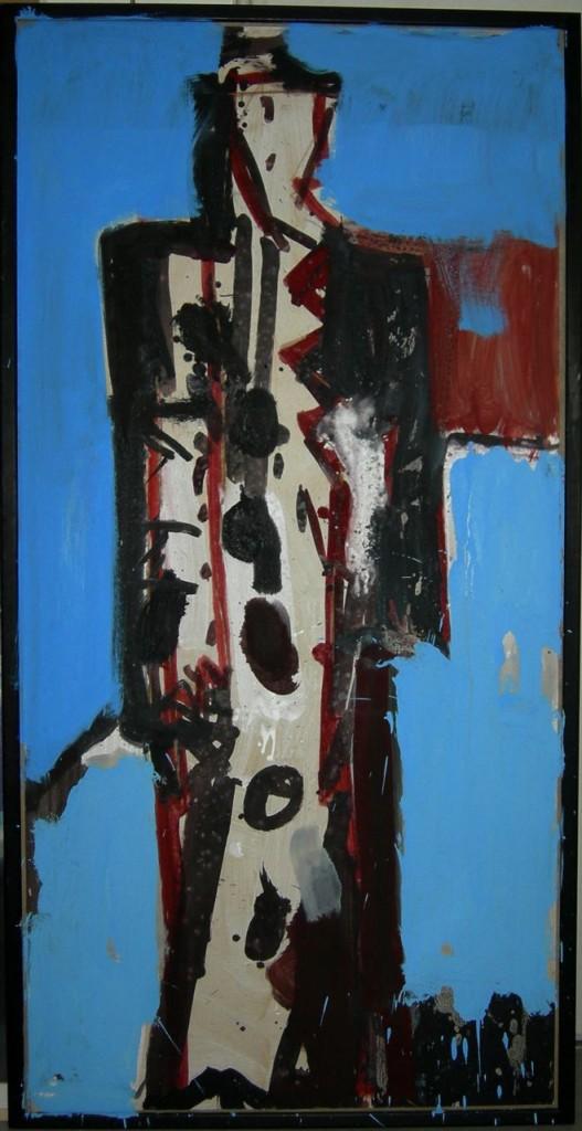 """""""Karyatide schwarz/blau"""" 1987/2005 (#7138)"""