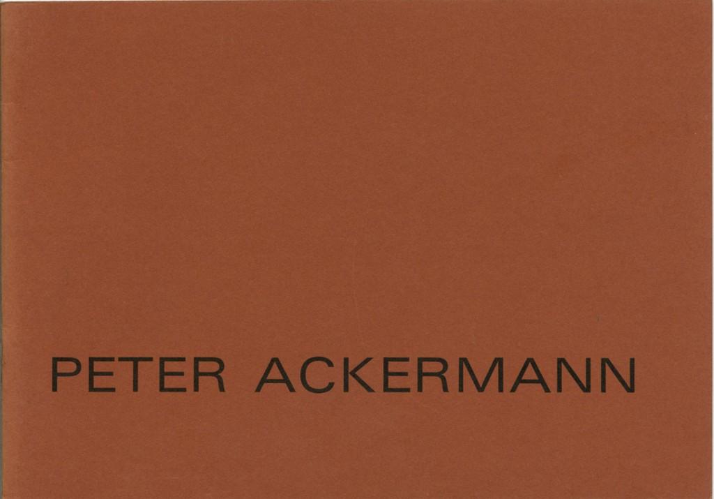 Peter Ackermann Zeichnungen – Radierungen Erscheinungsjahr 1973