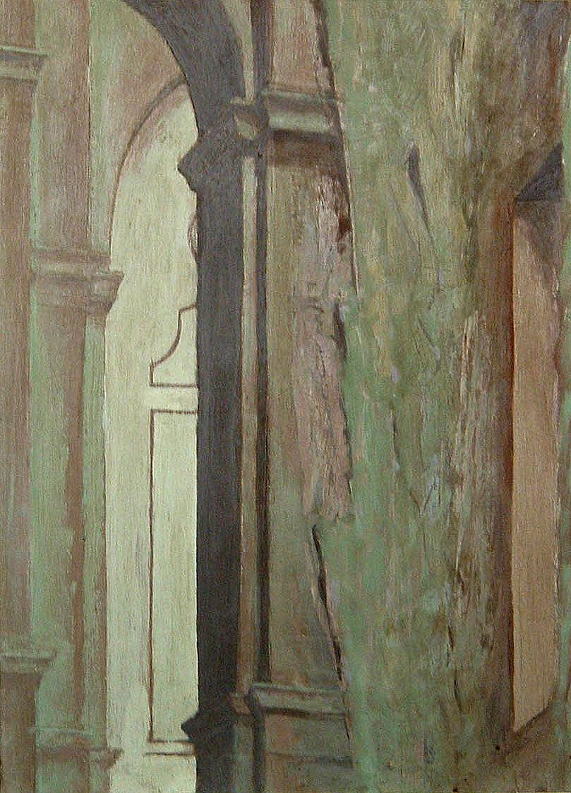 """""""Halbrundes Fenster mit Treppe"""" 1984"""