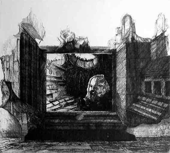 Blatt 2 (Marx im Leseraum des British Museum)
