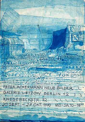 """Plakatentwurf 1970 für die Ausstellung """"Peter Ackermann- Neue Bilder"""""""