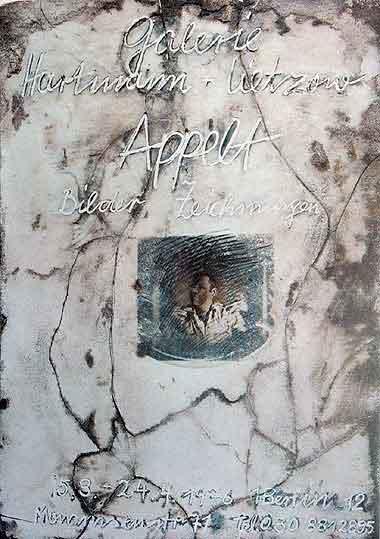 """Plakatentwurf 1976 für die Ausstellung """"Dieter Appelt - Bilder, Zeichnungen"""""""