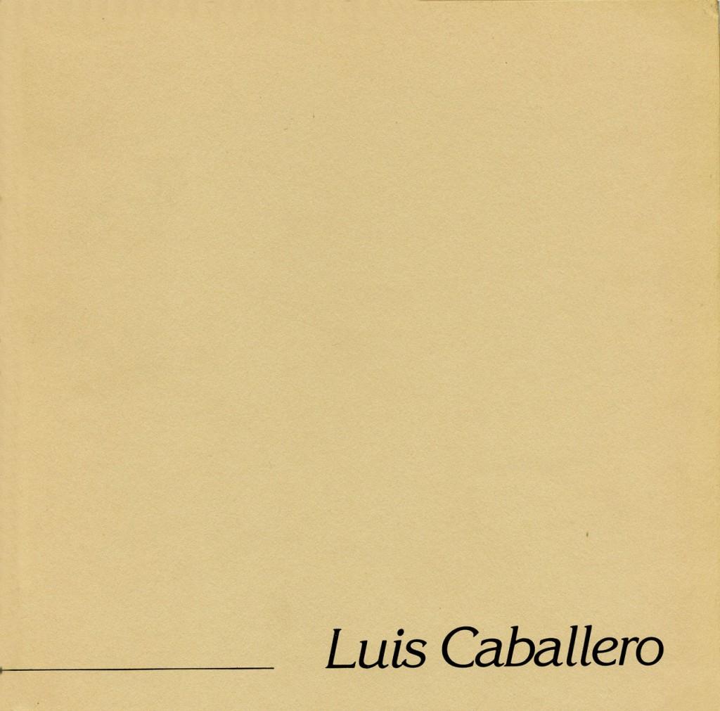 Luis Caballero Erscheinungsjahr 1983