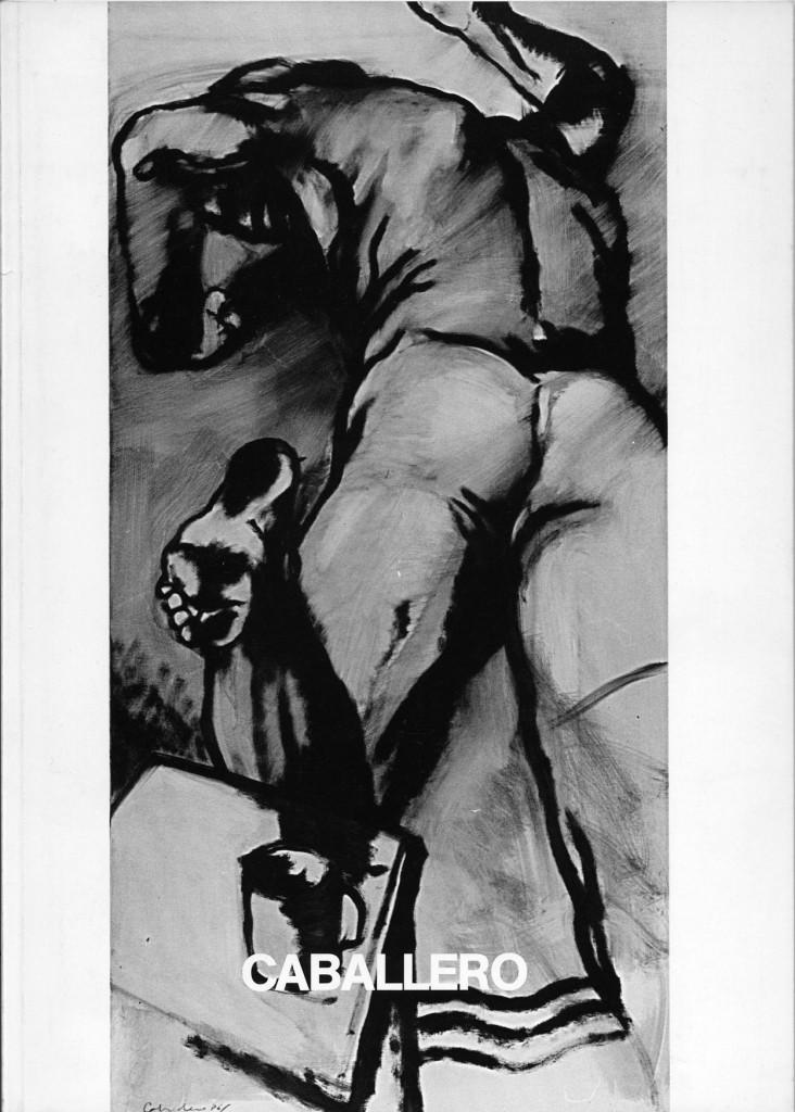 Luis Caballero Arbeiten 1986 (Zehn großformatige s/w-Bilder) Erscheinungsjahr 1986