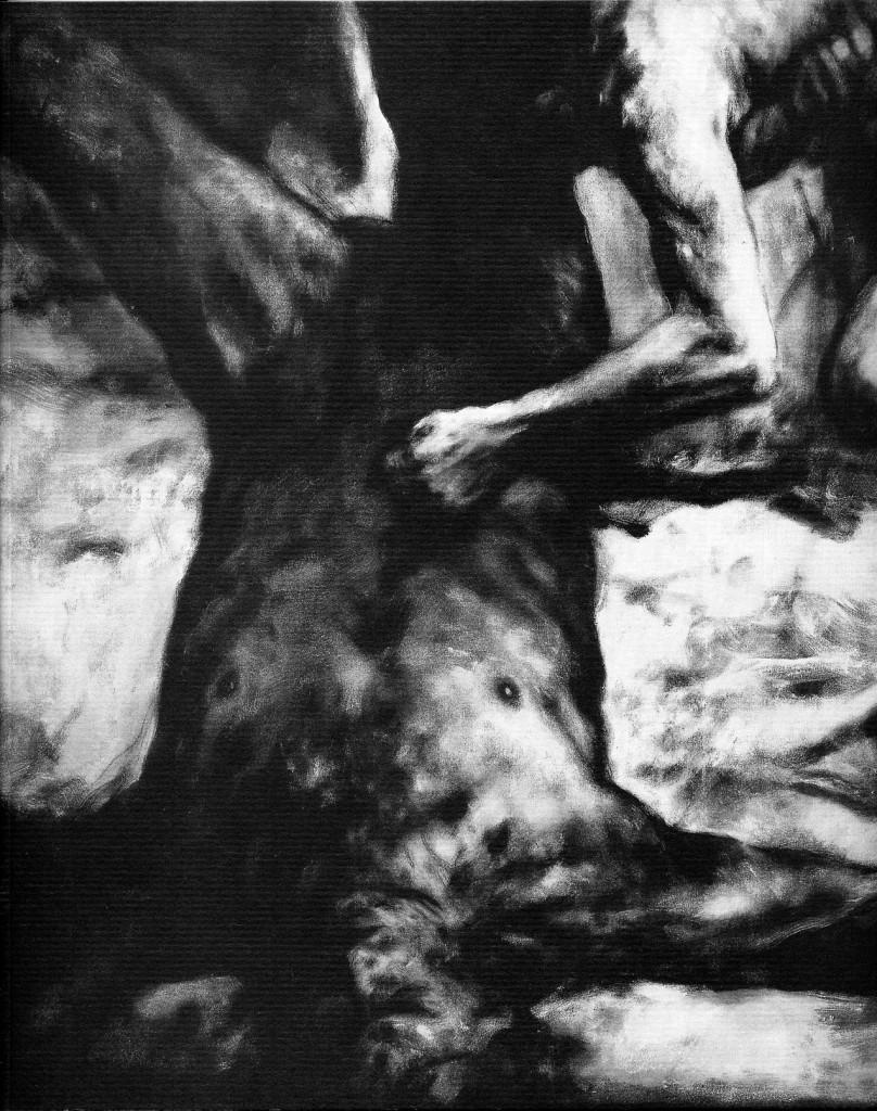 """Luis Caballero """"Large-Scale drawings"""" (Mischtechniken und Pinselzeichnungen auf Papier) Erscheinungsjahr 1991"""