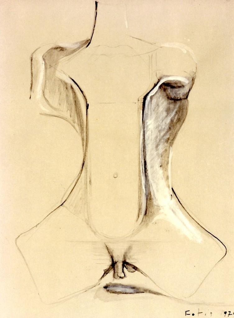 """""""Männlicher Torso"""" 1979 (#7099)"""