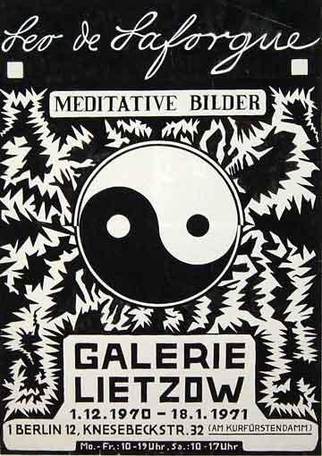 """Plakatentwurf 1970 für die Ausstellung """"Leo de Laforgue - Meditative Bilder"""""""