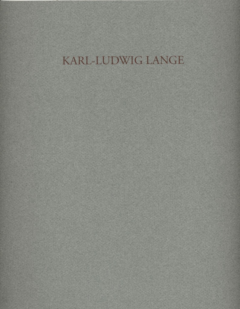 Karl-Ludwig Lange, Malerei und Zeichnung, Erscheinungsjahr 1991