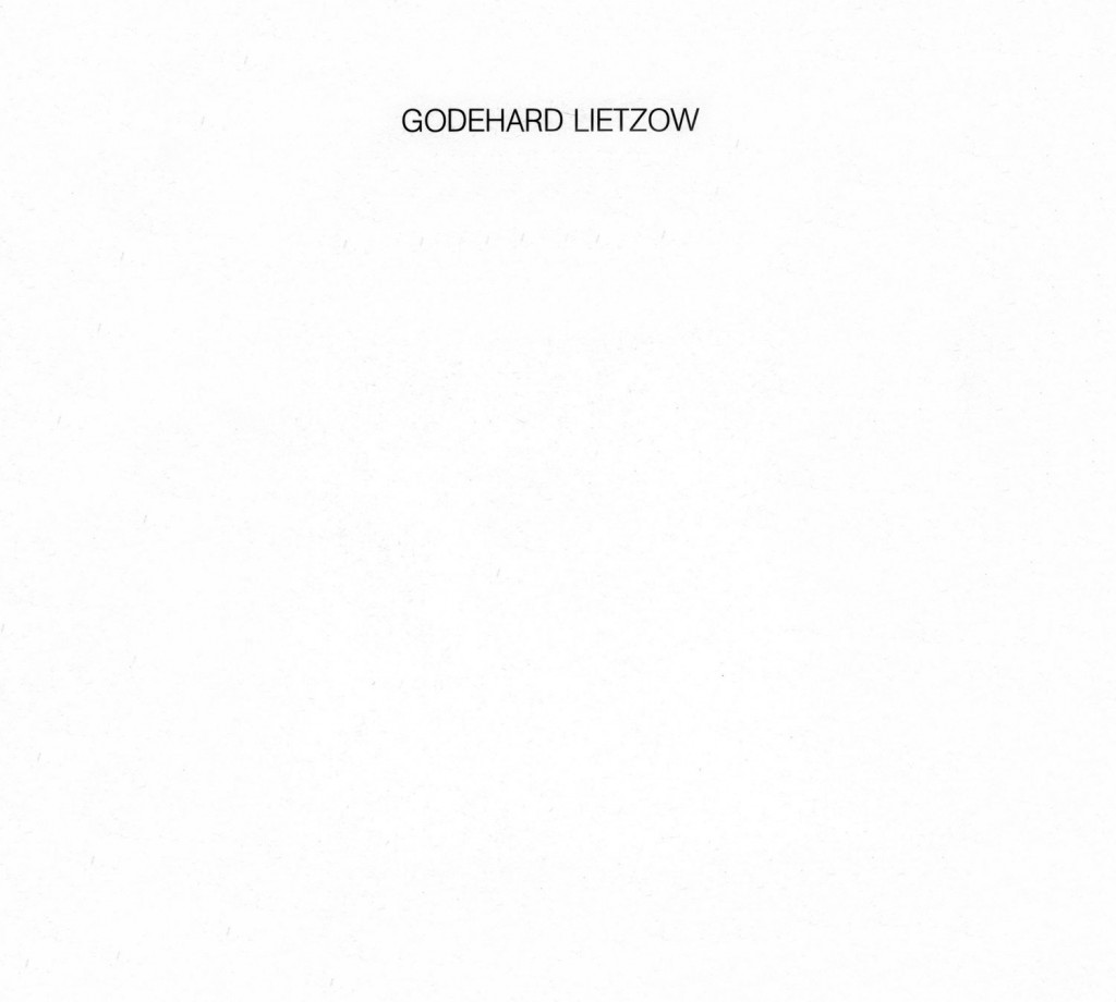 Godehard Lietzow, Zeichnungen, Aquarelle 1977-1979, Erscheinungsjahr 1979