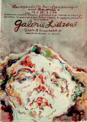 """Plakatentwurf 1973 für die Ausstellung """"Ausgewählte Handzeichnungen und Aquarelle IV """""""