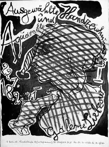 """Plakatentwurf (2) 1971 für die Ausstellung """"Ausgewählte Handzeichnungen und Aquarelle I"""""""