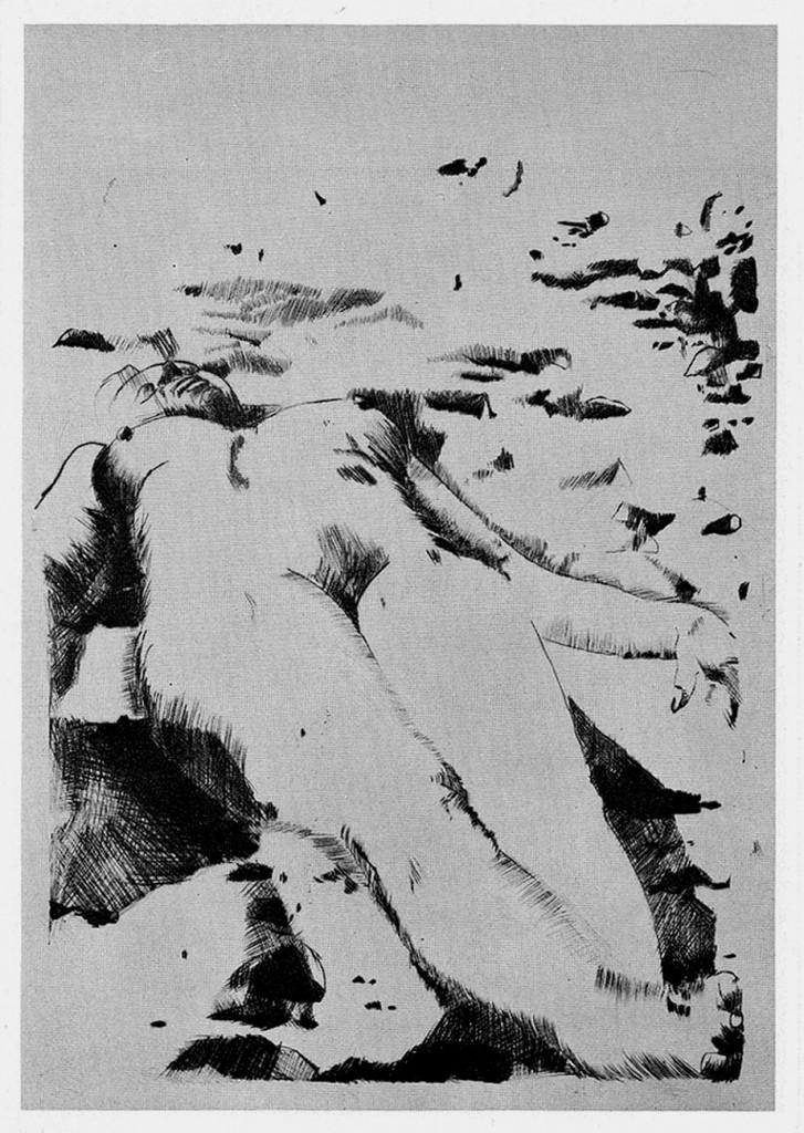 """""""Liegende am Strand"""" 1974"""