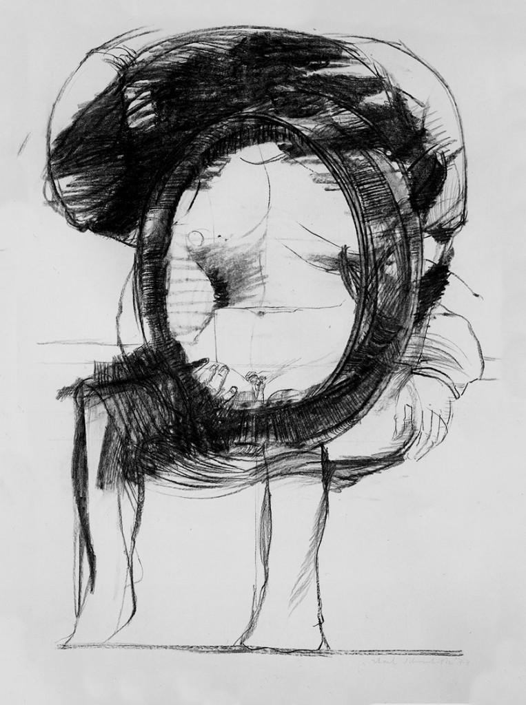 """""""Sitzende mit Spiegel"""" 1973 (#b1188)"""