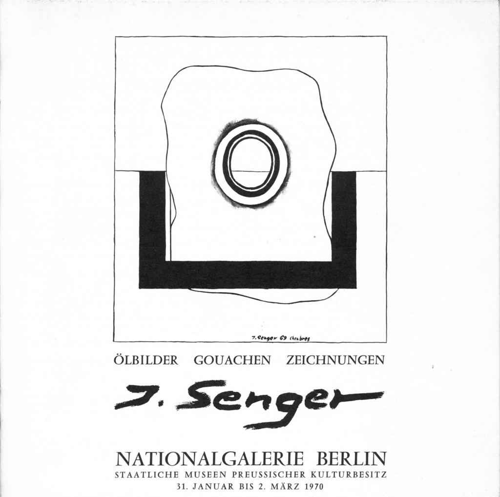 Joachim Senger - Ölbilder, Gouachen, Zeichnungen, Erscheinungsjahr 1970