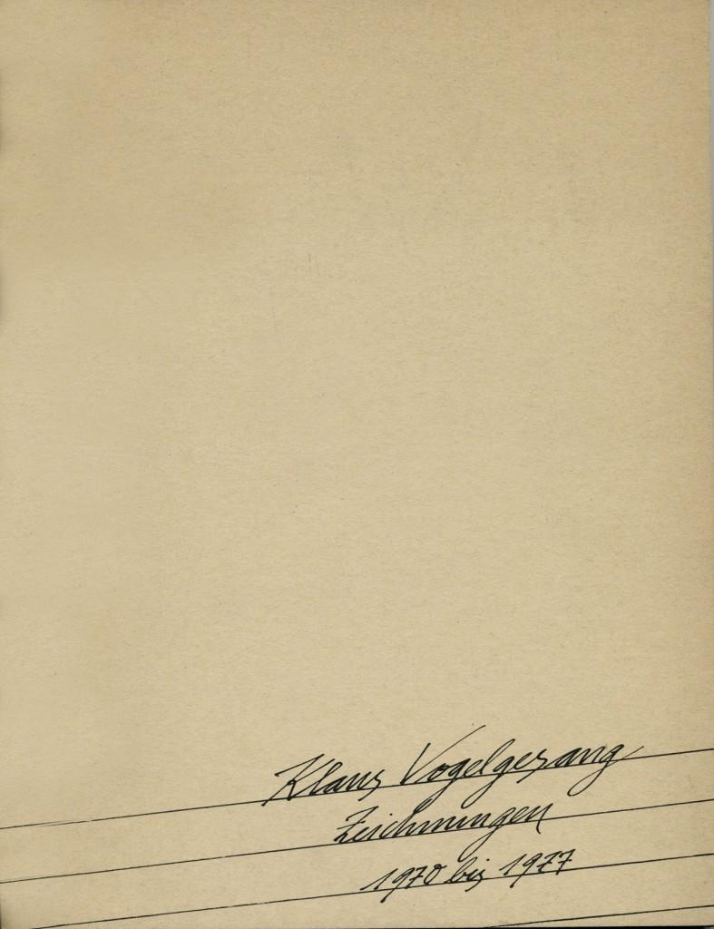 Klaus Vogelgesang, Zeichnungen 1970-77