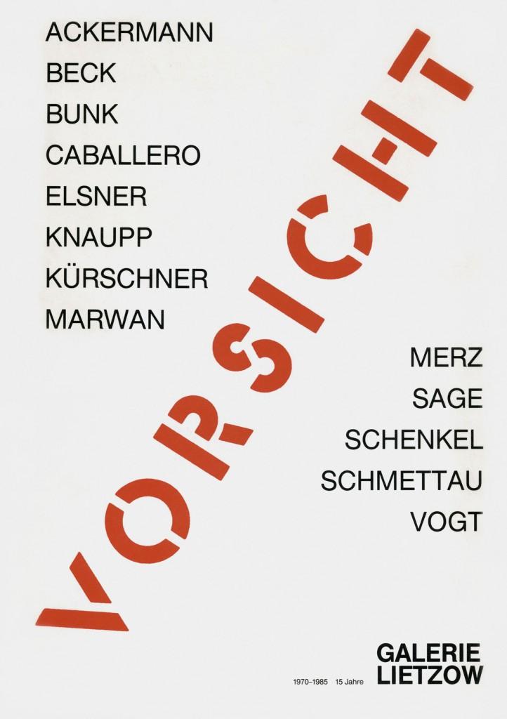 """Katalog """"Vorsicht"""" 1985"""