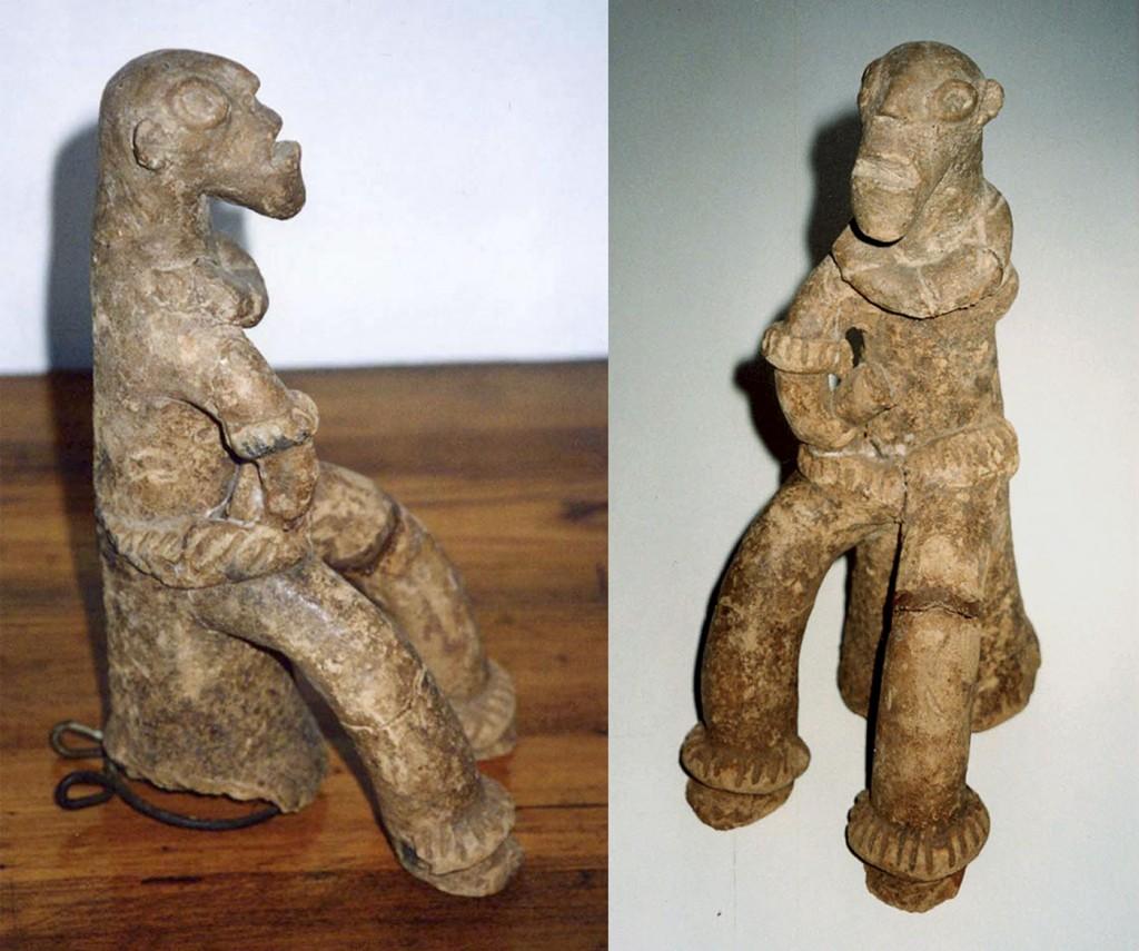 Sitzende Figur (König?) Fragment (Djenné/Mali)