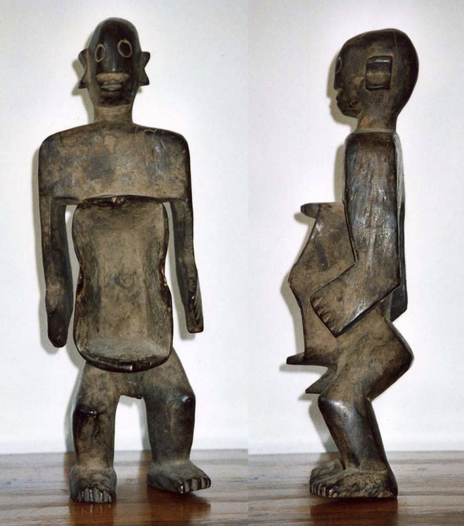 """Ritual-Trinkgefäß """"Gbene"""" in männlicher Gestalt (Mumuye/Nigeria)"""