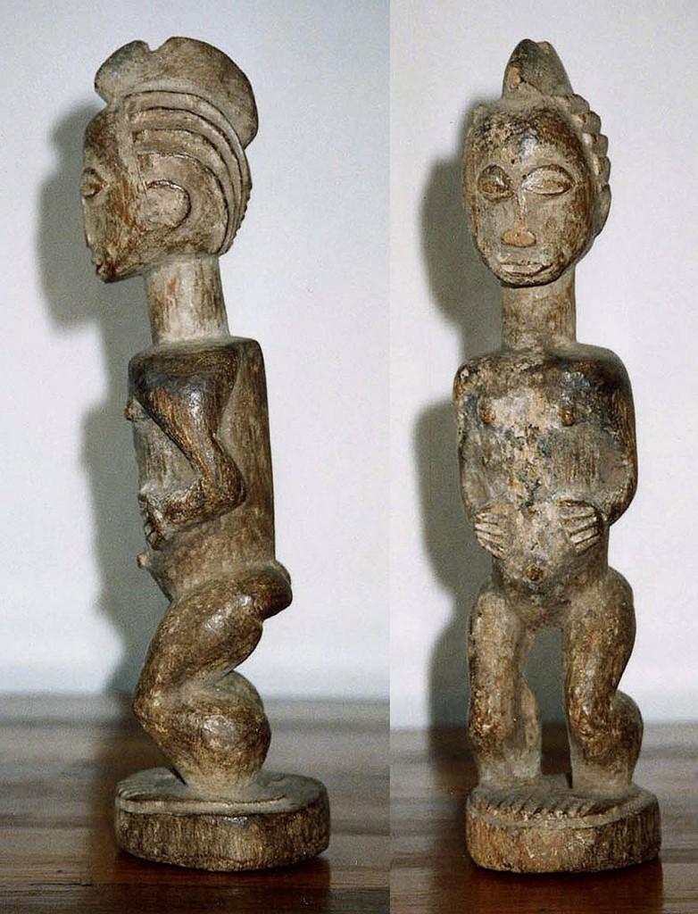 Weibliche Figur (Stabaufsatzfigur) Baule/Elfenbeinküste