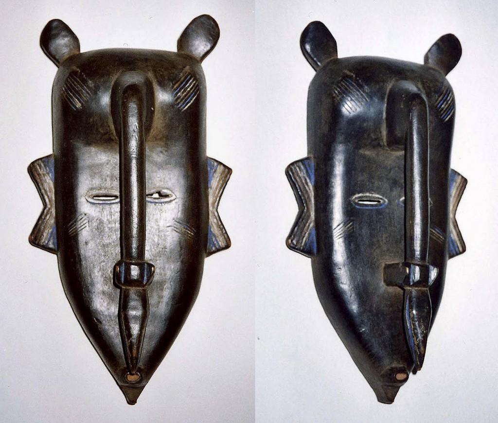 Weibliche Maske (Do-Geheimbund) Senufo/Elfenbeinküste