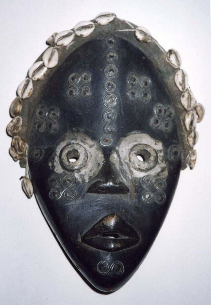 Maske mit Röhrenaugen (Dan/Liberia)