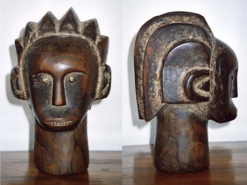 Kopf (Reliquiarkopf) Fang/Guinea, Gabun