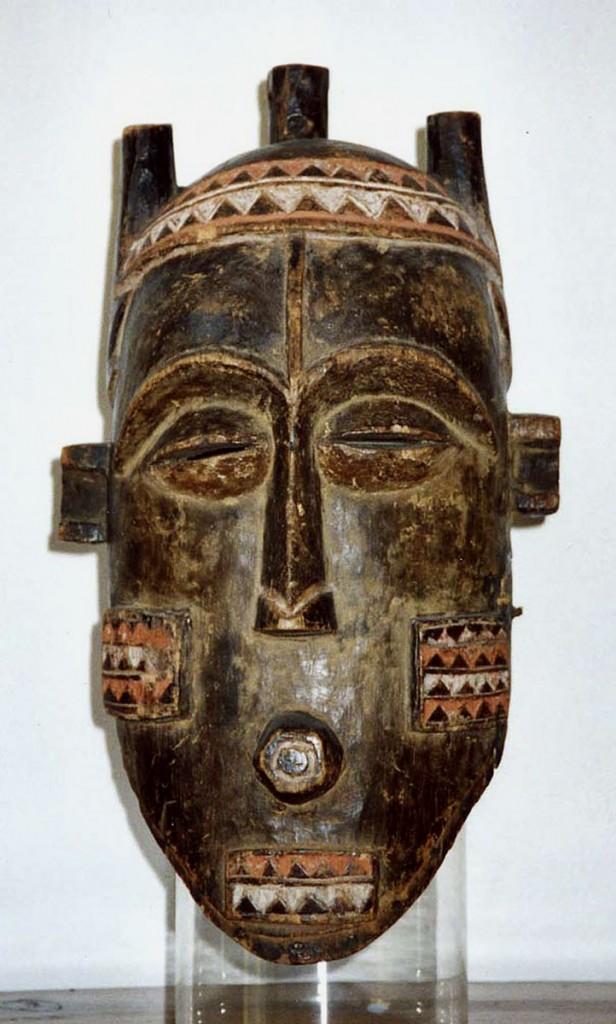 Helmmaske (Initiationsmaske) (Biombo /Zaire)