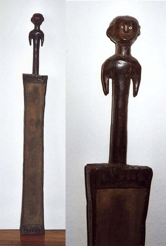 Schalenzither mit stehender Rumpffigur (Zaramo/Tanzania)
