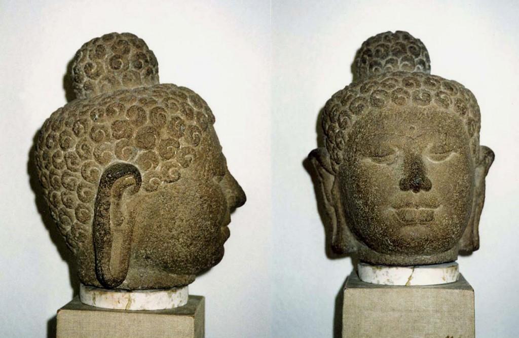 Kopf einer Buddhastatue (Frühindischer Stil) Java/Indonesien tr62